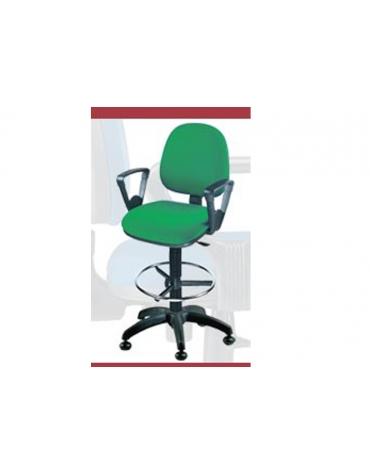 Sgabello ergonomico con poggiapiedi regolabile