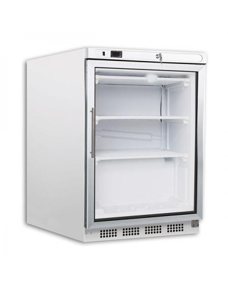 Congelatore sottobanco orizzontale statico con porta a vetro -10° -20°C -  cm 60x59,5x85,5h