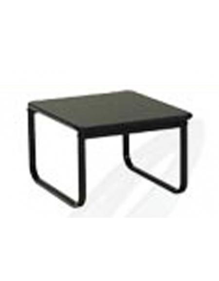 Tavolino attesa con piano e struttura neri