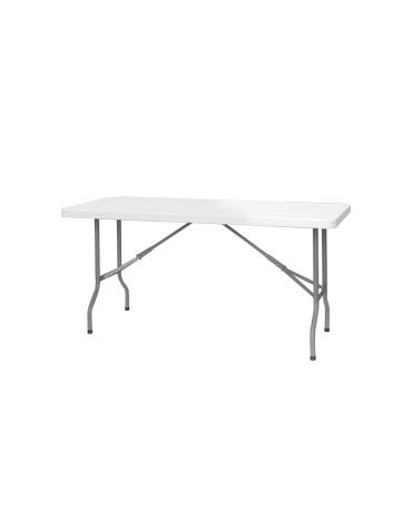 Tavolo rettangolare pieghevole in polietilene cm. 153x76,5x74,5h