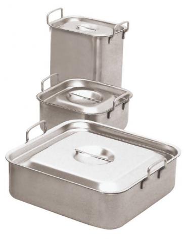 Bagnomaria, impilabile in acciaio inox - lt. 9 - cm 24x24x16h