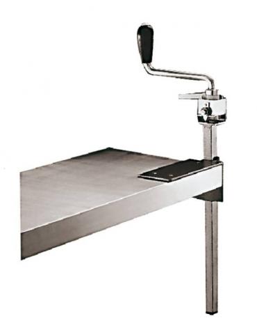 Apriscatole professionale da banco in composito epossidico, lama acciaio reversibile - lunghezza cm 40