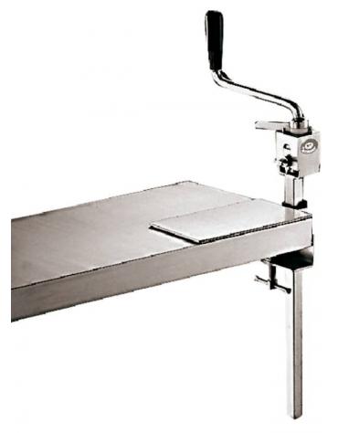 Apriscatole professionale da banco con fissaggio a morsetto, lama acciaio reversibile - lunghezza cm 55