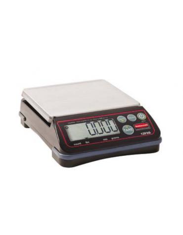 Bilancia elettronica - Portata 6 Kg - dimensioni piattaforma cm 14,6x16,5 - cm cm 21,6x17,1x6,3