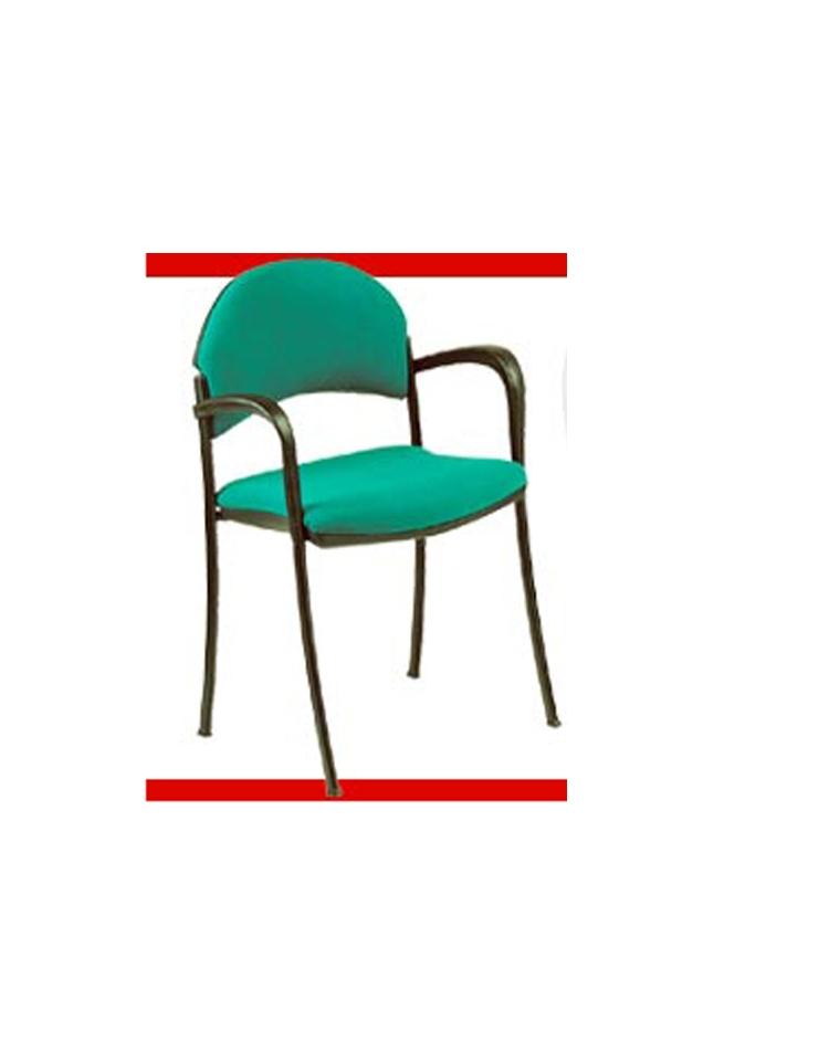 Sedia fissa con braccioli e scrittoio serie teti attesa riunione conferenza sedie - Sedia imbottita con braccioli ...