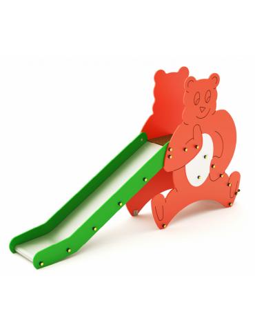 Scivolo orsetto di betulla finlandese con la scivolata in acciaio AISI 304 - cm 150x120x55h