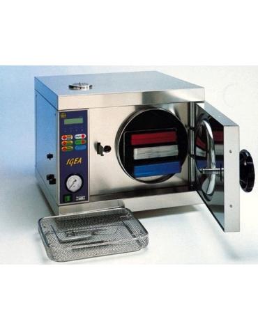 Autoclave a vapore elettronica da banco lt 20 c/ vuoto