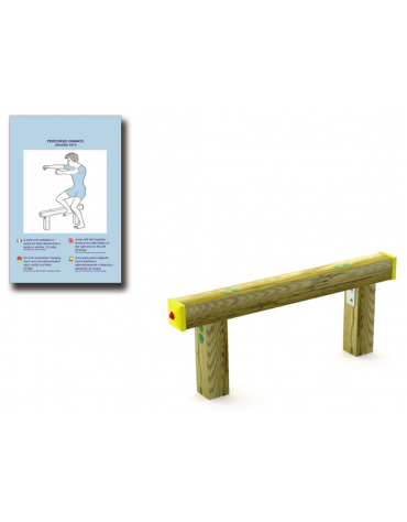 Struttura per salti in legno lamellare e calotta in plastica - cm 105x10x40h