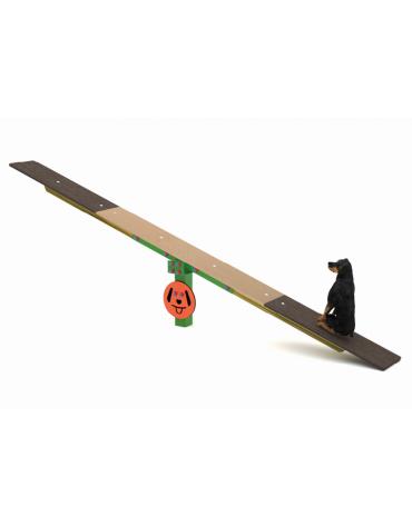 Bilico Dog Balance - con palo di pino nordico, tavola in multistrato di betulla  - cm 365x30x60h