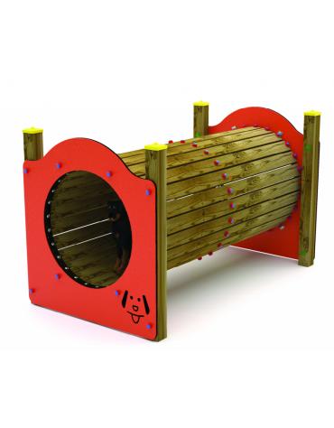 Dog Tunnel - 4 pali portanti in palo di pino nordico con struttura portante in acciaio laccato.  - cm 204x115x122h