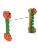 Dog high jump per cani - pali portanti in pino nordico, pareti laterali in hpl, tubo per salto in ferro zincato - cm 152x50x120h