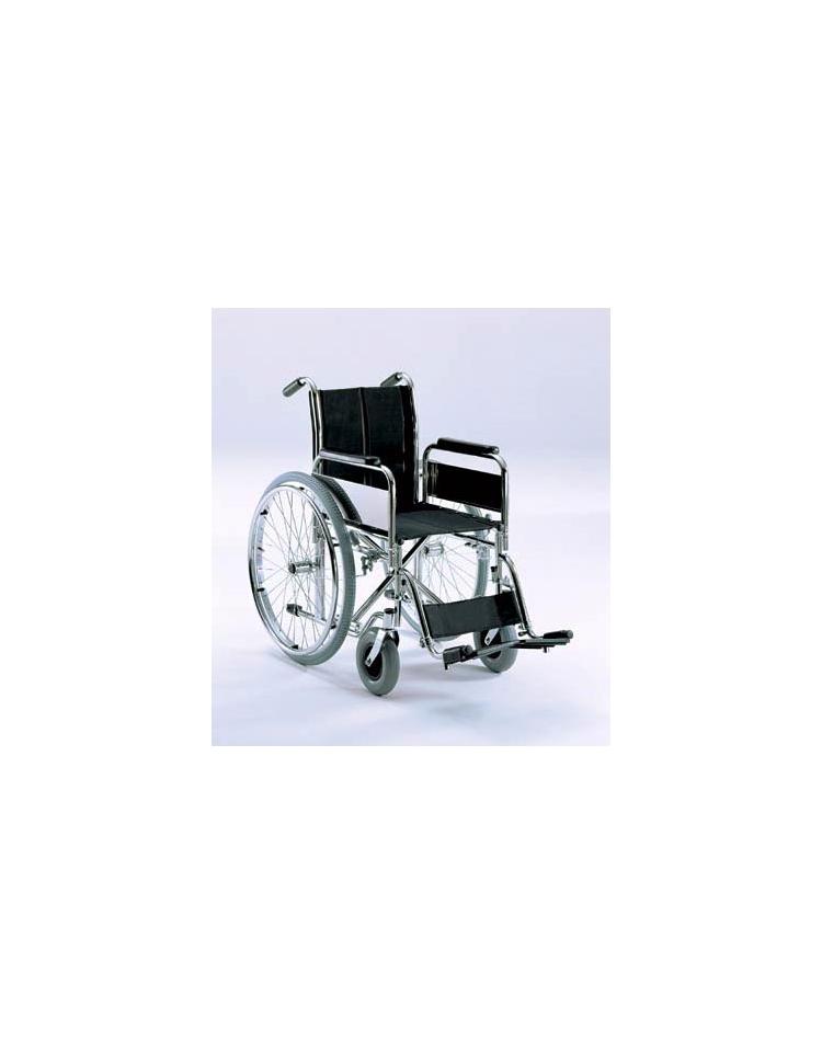 Sedia a rotelle pieghevole braccioli pedane estraibili for Sedia a rotelle