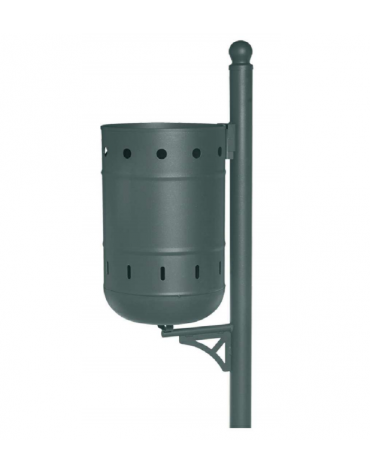 Cestino in acciaio zincato e vernicito - capacità: 36 litri - cm 40x32x100h