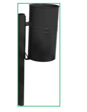 Cestino in acciaio zincato e vernicito - capacità: 32 litri - cm diam 30x100h