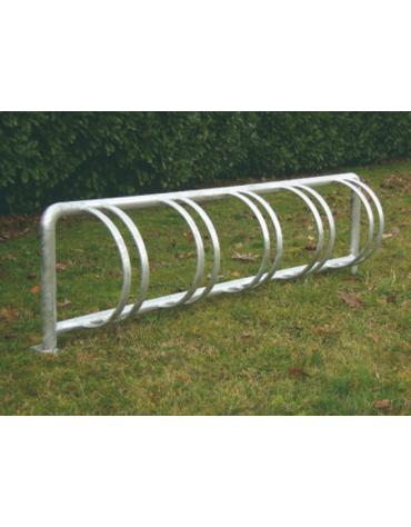 Portabiciclette verticale a 5 posti in acciaio zincato a caldo - cm 187X25X50h