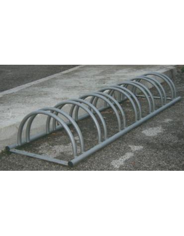 Portabiciclette orizzontale 7 posti in acciaio zincato a caldo - cm 200X54X29h
