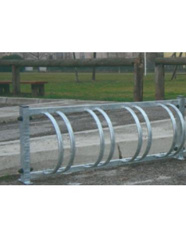 Portabiciclette orizzontale 4 posti componibile in acciaio zincato a caldo - cm 134X22X50h