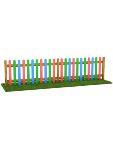 Steccato inglese doghe multistrato piantone massello - cm 200x11x100h