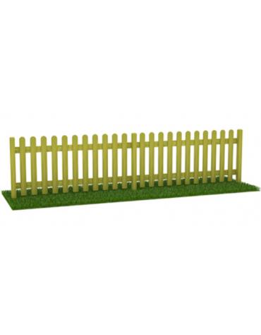 Steccato inglese doghe in pino piantone lamellare - cm 200x11x100h