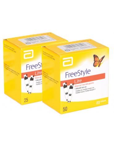 Strisce glucosio abbott freestye lite confezione da 25 pz