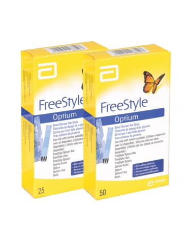 Strisce glucosio abbott freestye optium confezione da 25 pz