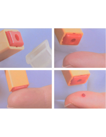 Dispositivi multifunzione di campionamento di sangue capillare, profondità penetrazione: 2,2 mm