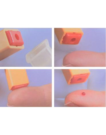 Dispositivi multifunzione di campionamento di sangue capillare, profondità penetrazione: 2,8 mm