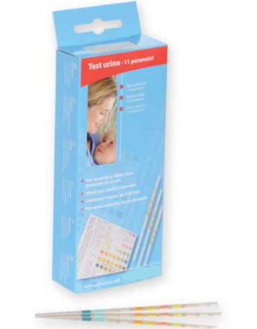 Strisce urine 11 parametri per visual test in busta (5 buste da 3 strisce 3 ciascuna)