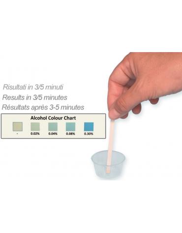 Strisce salivari test alcolimetroco - confezione da 25 test