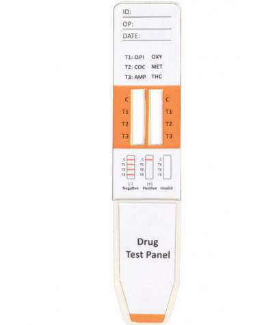 Multites 6 droghe - 8 parametri midstream su saliva - professionale - confezione da 20 test