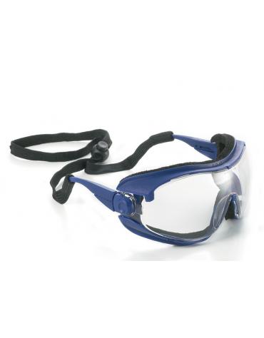 Occhiali ad alta protezione in policarbonato anti graffio, antiappannante - spessore maschera 1,7 mm