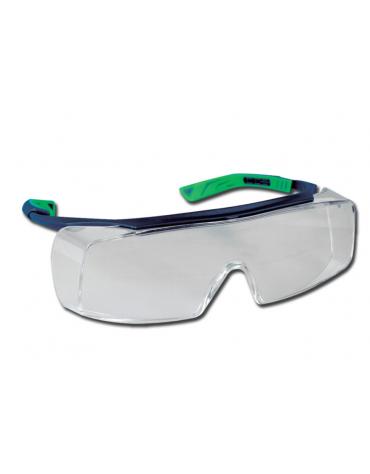 Occhiali protettivi 5 x 7, antiappannanti e antigraffio.