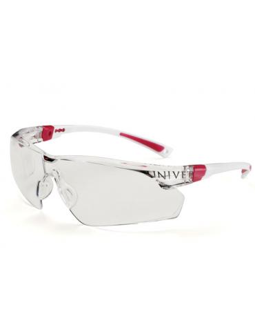 Occhiali protettivi 506 UP Plus, antiappannanti e antigraffio colore rosa