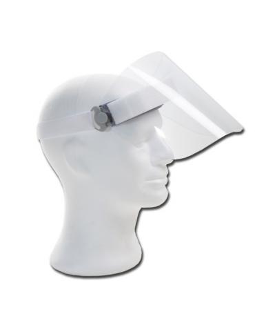 Maschera protettiva con rotazione a 90° - Schermo antiappannante spessore 0.7 mm - protezione totale dal viso contro spruzzi