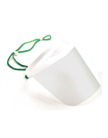 Visiera protettiva ultraleggera con barriera protettiva in plastica impermeabile