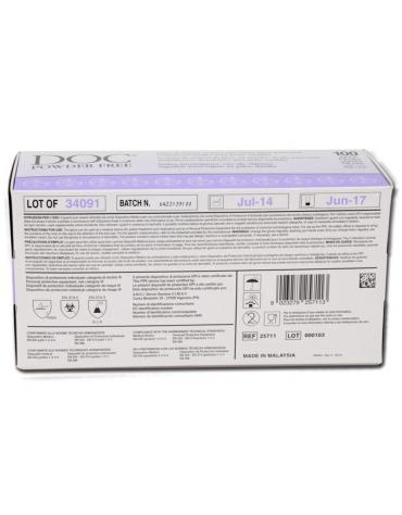 Guanti in lattice ambidestri, misura large con orletto, senza polvere, non sterili - conf. da 100pz.