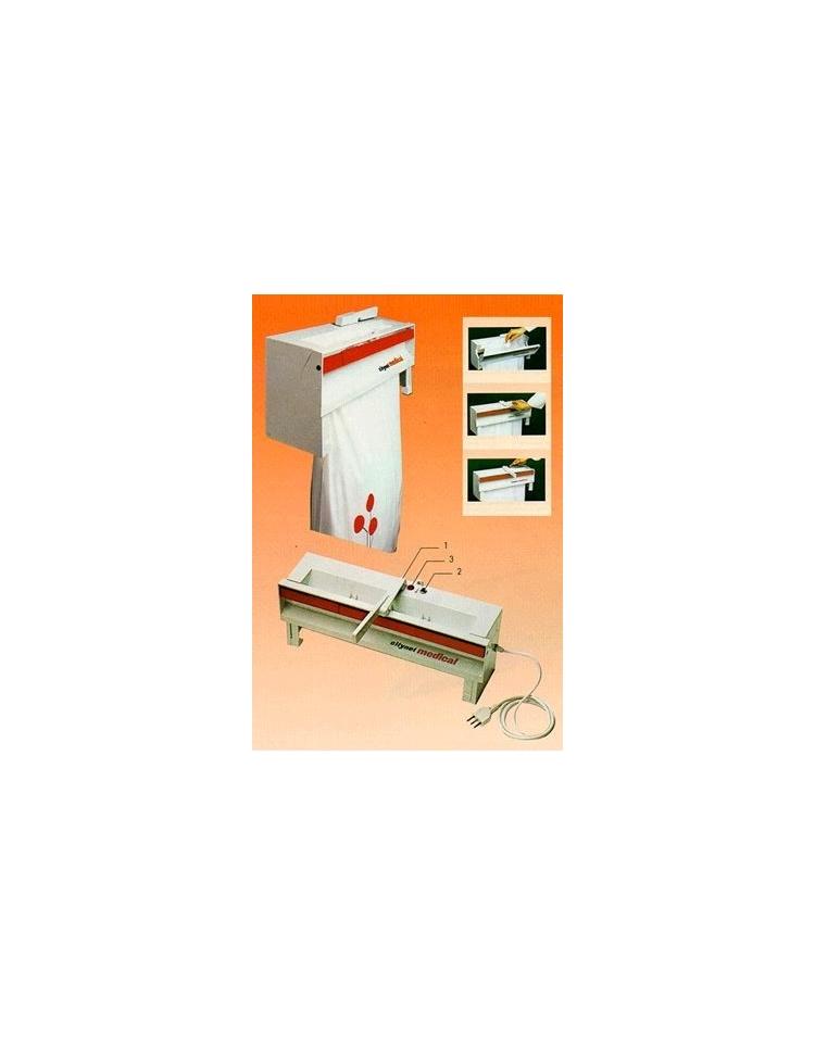 Saldatrice sigillatrice con portarotolo verticale for Arredamento ospedaliero