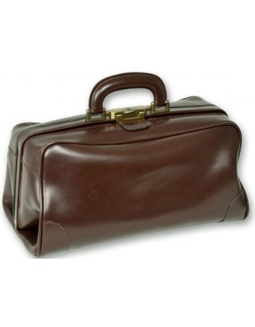 "Borsa ""Florida pelle"" - colore marrone - 38 x 20 x h 20 cm"