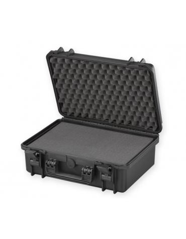 Valigia medicale con spugna interna - colore nero - 464 x 366 x h 176 mm