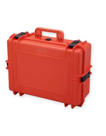 Valigia medicale con spugna interna - colore arancione - 555 x 428 x h 211 mm