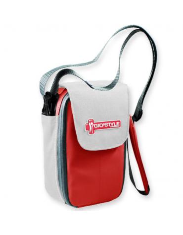 Borsa termica Medi pocket compatta per insulina e medicinali termolabili, colore rosso/bianco - 12 x 6,5 x h 20 cm