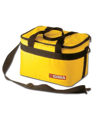 Borsa termica impermeiabile nylon, colore giallo - 34 x 25 x h 24 cm