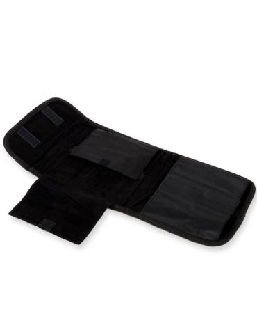 Borsa portaferri con imbottitura di protezione in tessuto vellutato e chiusura in velcro - 19,5 x 15 x h 3 cm