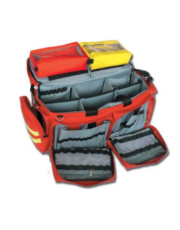 Borsa emergenza Smart in poliestere, vuota, colore rosso - 65 x 35 x h 35 cm