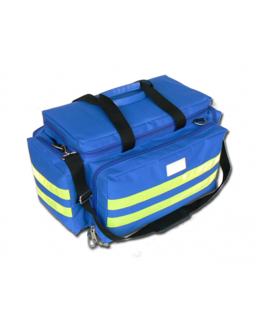 Borsa emergenza Smart in poliestere, vuota, colore blu - 55 x 35 x h 32 cm