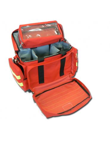 Borsa emergenza Smart in poliestere, vuota, colore rosso - 45 x 28 x h 28 cm