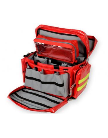 Borsa emergenza Smart in poliestere rivestito, vuota, colore rosso - 55 x 35 x h 38 cm