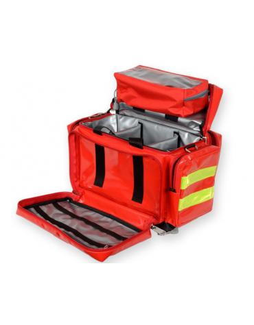 Borsa emergenza Smart in poliestere rivestito in PVC, vuota, colore rosso - 45 x 28 x h 28 cm