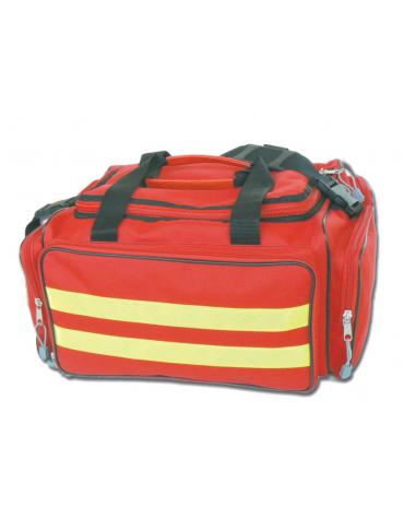 Borsa emergenza in poliestere 600D, vuota, colore rosso - 35 x 45 x h 21 cm