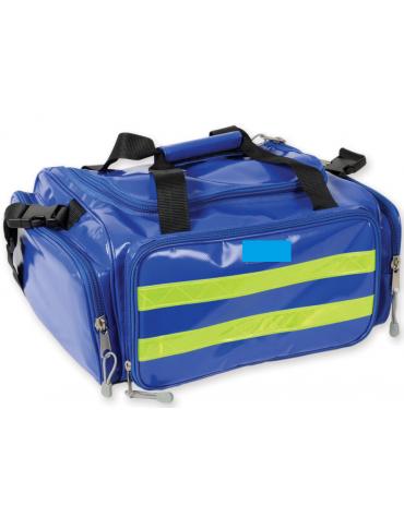 Borsa emergenza in poliestere rivestito di PVC, vuota, colore blu - 35 x 45 x h 21 cm